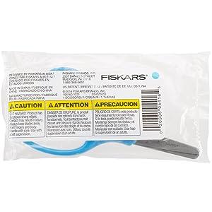 Fiskars 5 Inch Blunt-tip Kids Scissors, Turquoise