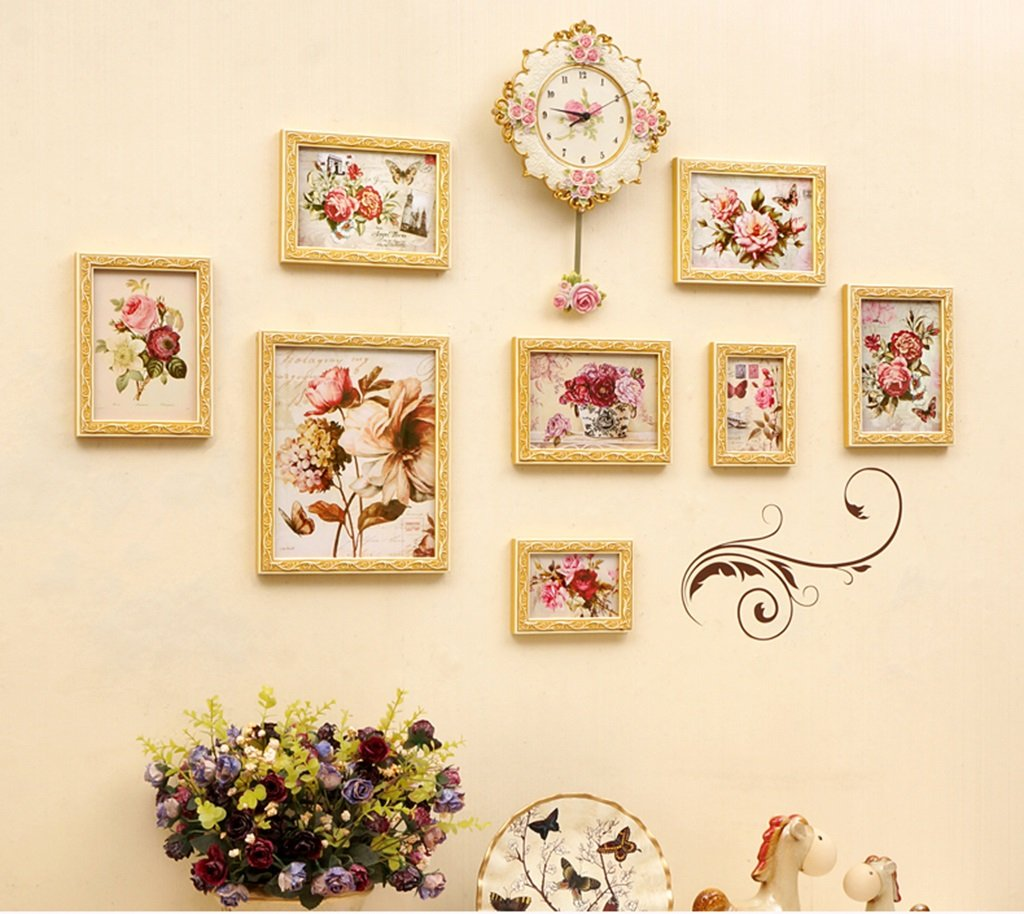 LQQGXL Modern simple photo wall solid wood photo frame living room children's room creative combination of objects Photo frame ( Color : B )