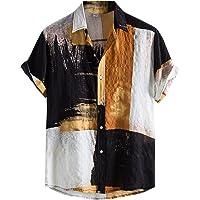 feftops Camisa Hawaianas Hombre Solapa Estampada Moda Casual Manga Corta 2021 Playa de Verano Camisas Hombres Tallas…