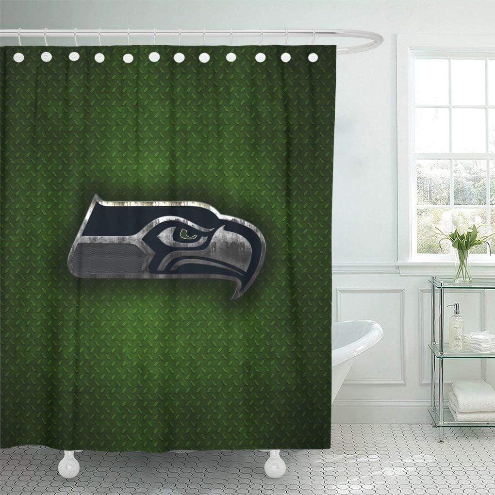 "72/"" 72/"" Bathroom Fabric Shower Curtain 12 Hooks /& Bath Mat Gloves Baseball Decor"