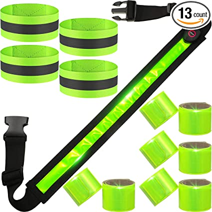 High Visibility Gear for Running LED Reflective Belt Walki USB Rechargeable