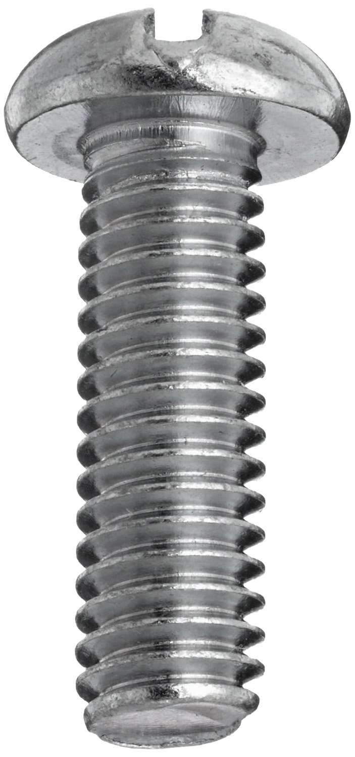 18-8 Stainless Steel Machine Screw #1-64 UNC Threads Plain Finish Pack of 100 Slotted Drive Meets ASME B18.6.3 Round Head 1//8 Length Fully Threaded