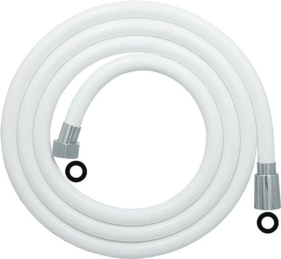 Brauseschlauch 150cm Duschschlauch PVC Verdrehschutz 1//2 Zoll Schlauch in Weiss