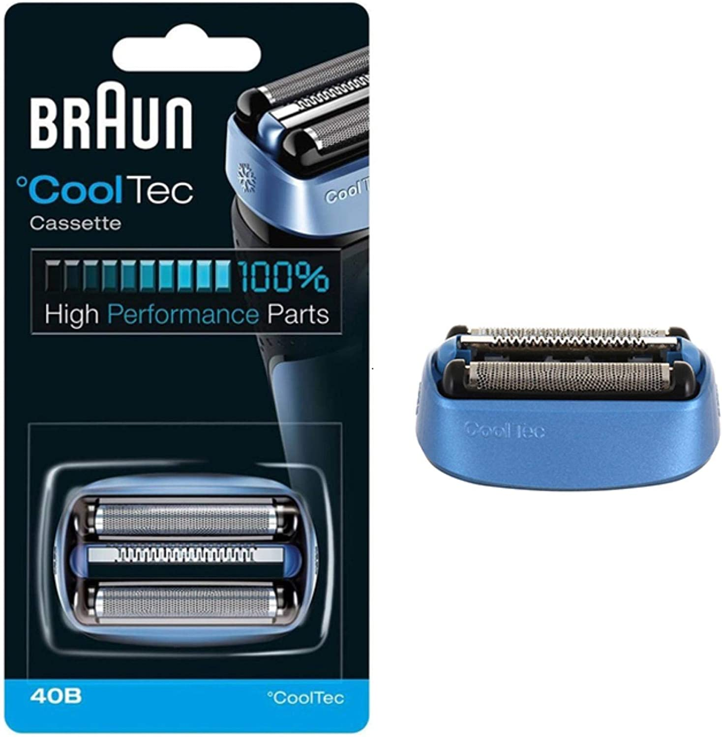 Braun 40B Foil and Cutter Replacement Cartridge for CoolTec ...