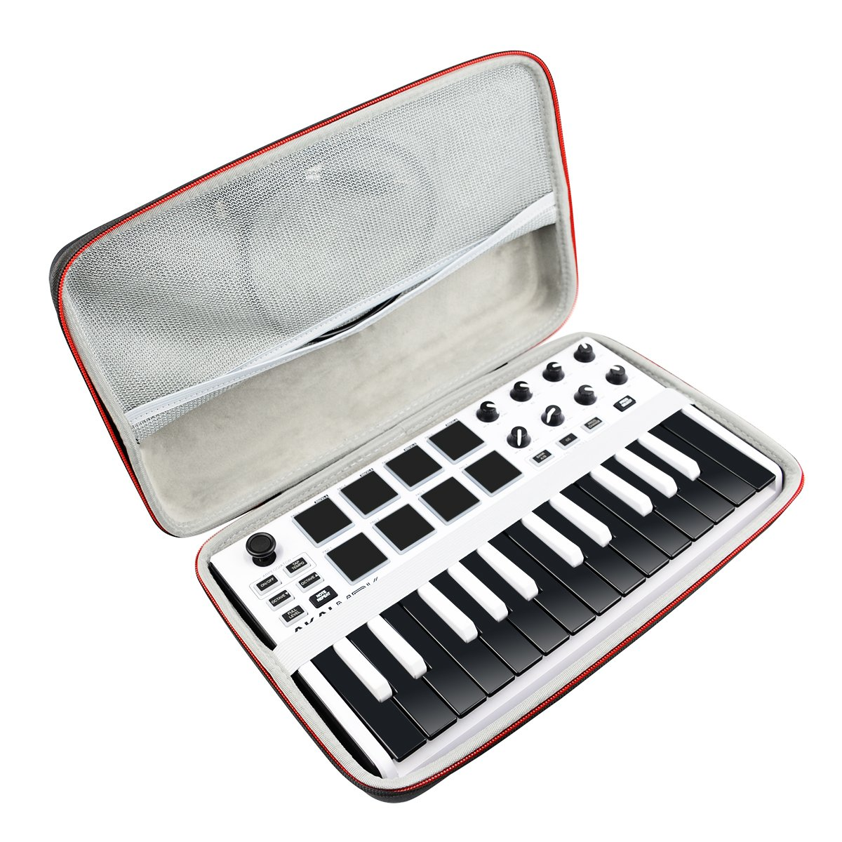Hard Travel Case Bag for Akai Professional MPK Mini MKII | 25-Key Ultra-Portable USB MIDI Drum Pad & Keyboard Controller by AONKE by AONKE