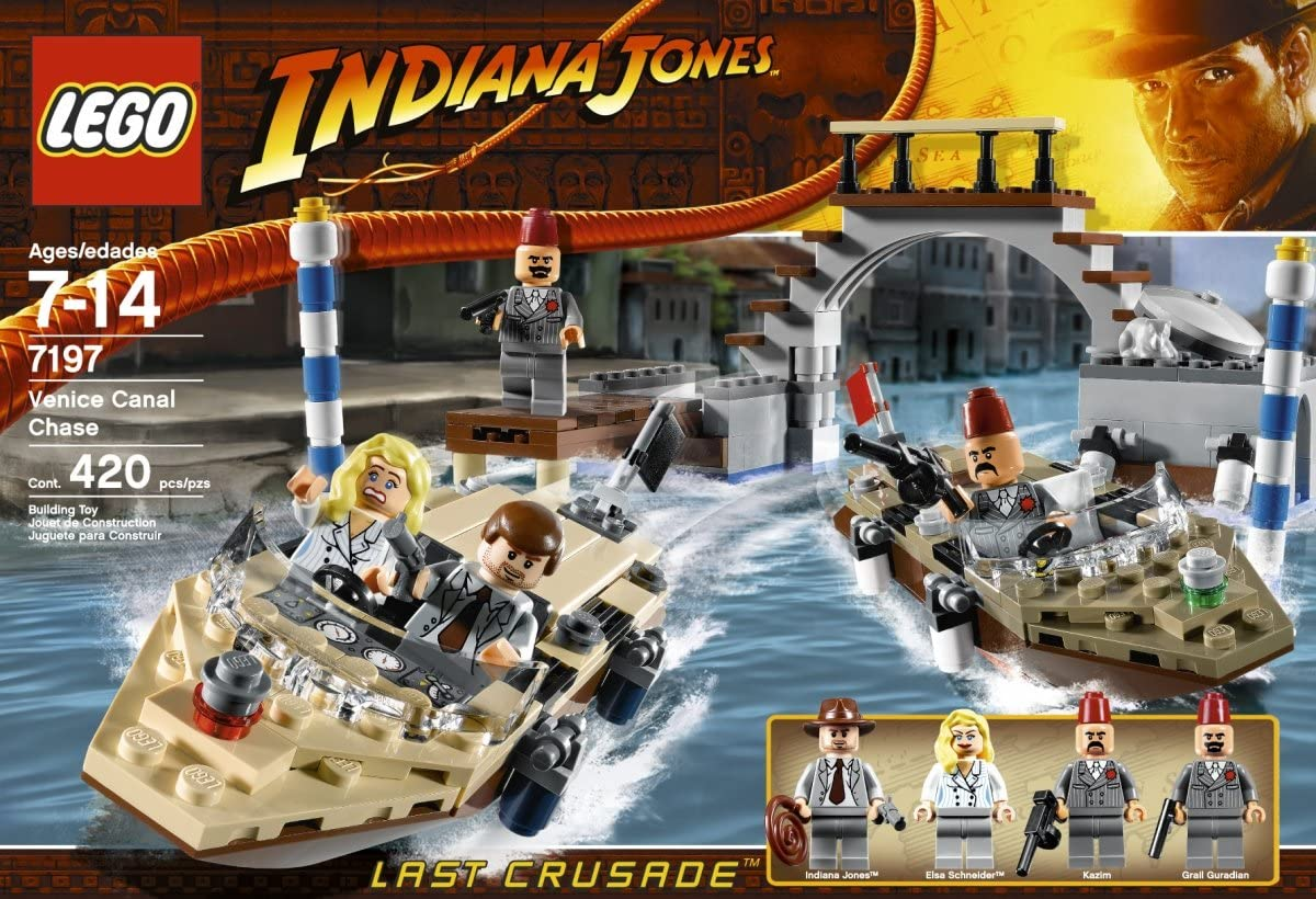 Pursuit of Lego Indiana Jones Venice Canal) 7197 Venice Canal Chase (japan import): Amazon.es: Juguetes y juegos
