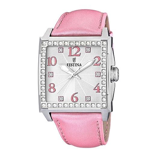 Festina F16571/2 - Reloj analógico de Cuarzo para Mujer con Correa de Piel, Color Rosa: Festina: Amazon.es: Relojes