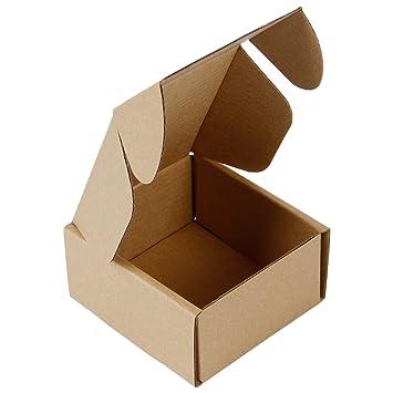 RUSPEPA 10 X 10 X 5Cm Cajas De Cartón Corrugado Perfecto Para El Envío Pequeño, Kraft (Paquete De 50): Amazon.es: Hogar