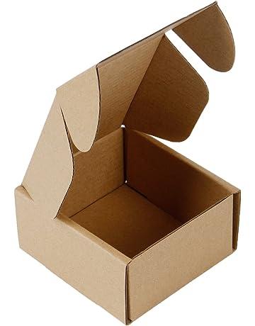 RUSPEPA 10 X 10 X 5Cm Cajas De Cartón Corrugado Perfecto Para El Envío Pequeño (