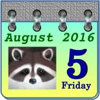 Calendar My Raccoon