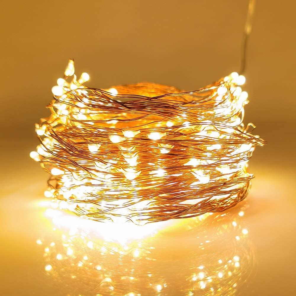 Liida Led Multi Strand Fairy String Lights 6 6ft 300 Micro Led Lights 15 Strings In Bunch Home Party Holiday Chrismas Tree Decoration Warm White Amazon Ca Electronics