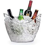 Yobansa 3.5L secchiello in acrilico trasparente per bottiglie di vino/spumante/champagne e ghiaccio, accessorio da bar/enoteca clear ice bucket
