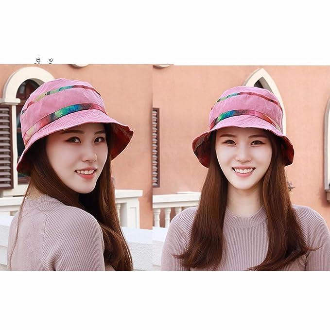 YANGFEIFEI-MZ Sombrero femenino días de primavera y otoño el nuevo roto  macetas sombrilla cap cap cap madre anciano pescador hat gráficos sombreros  fina ... 877648727cc