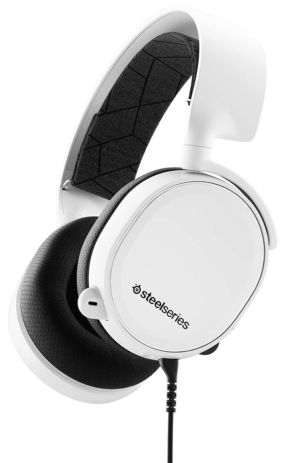 SteelSeries Arctis 3 - Auriculares de Juego multiplataforma - para PC, Playstation 4, Xbox One, Nintendo Switch, RV, Android y iOS - Blanco [Edición 2019]: ...