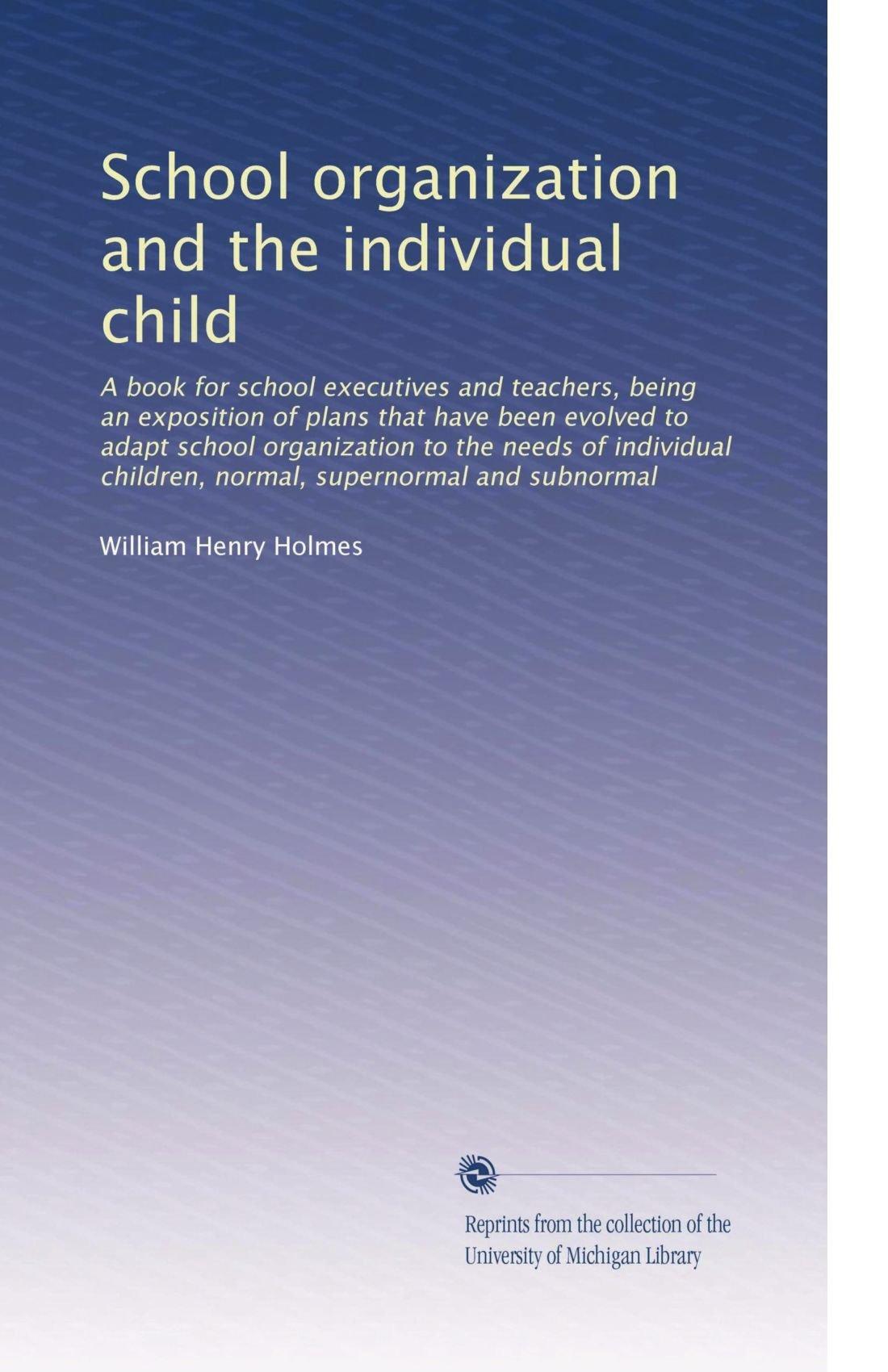 Download School organization and the individual child pdf epub