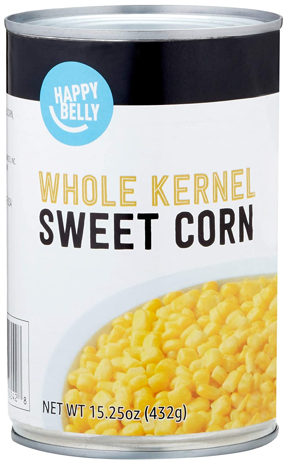 Amazon Brand - Happy Belly Whole Kernel Corn, 15.25 oz