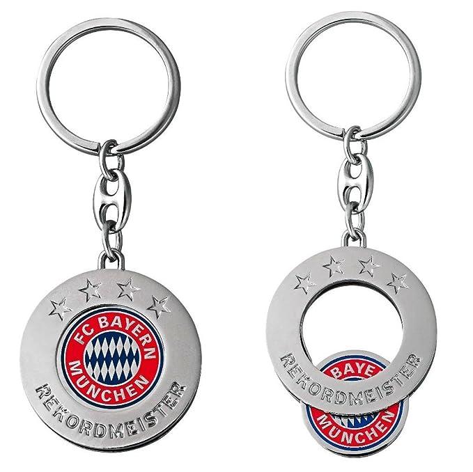 Keychains FCB Anh/änger mit Einkaufschip FC Bayern M/ünchen Schl/üsselanh/änger Plus Lesezeichen I Love M/ünchen
