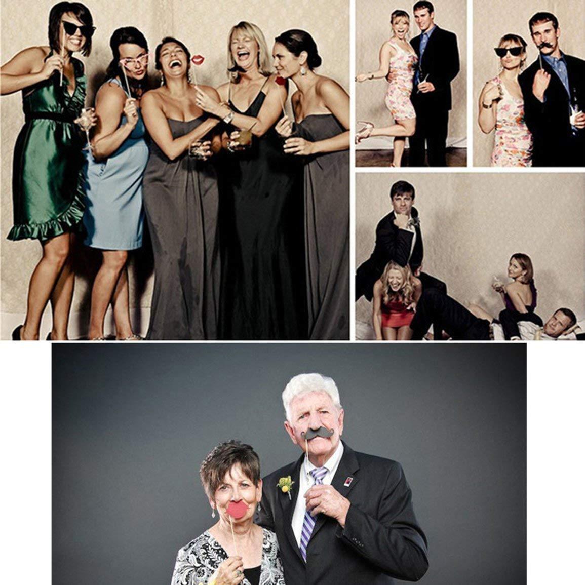 fghfhfgjdfj 33 Styles//Set Color/é Lunettes Parti Photo Booth Props Happy Halloween Accessoires De Photo De Mariage Kit pour la D/écoration De F/ête
