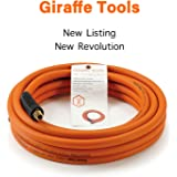 Hybrid Air-Hose 3/8 in. x 25 FT.1/4 in. MNPT Fittings, 300 PSI,Lightweight Flexibility Soft Polymer Hose by Giraffe