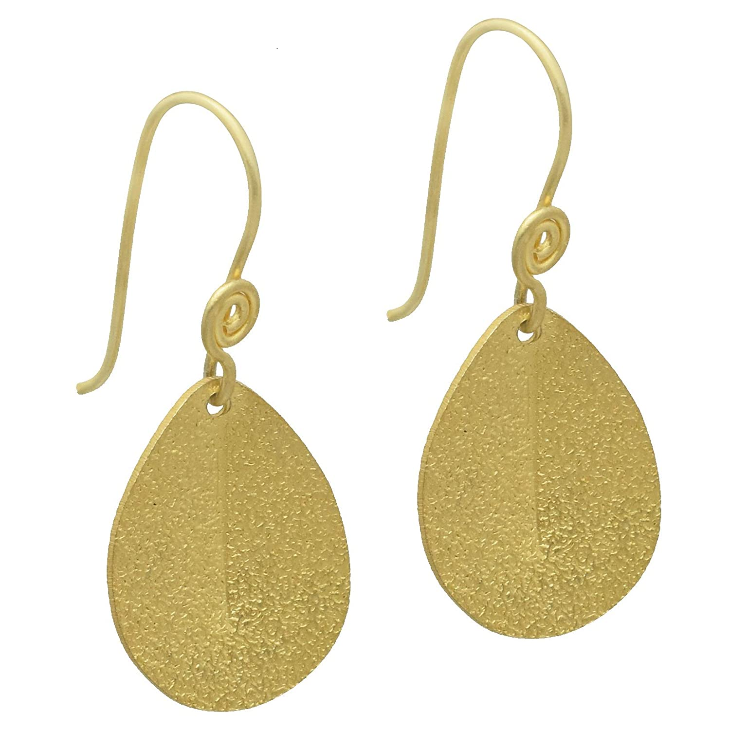The V Collection Earrings 22k Gold Plated Drop Handmade Dangling Earrings for Women and Girls