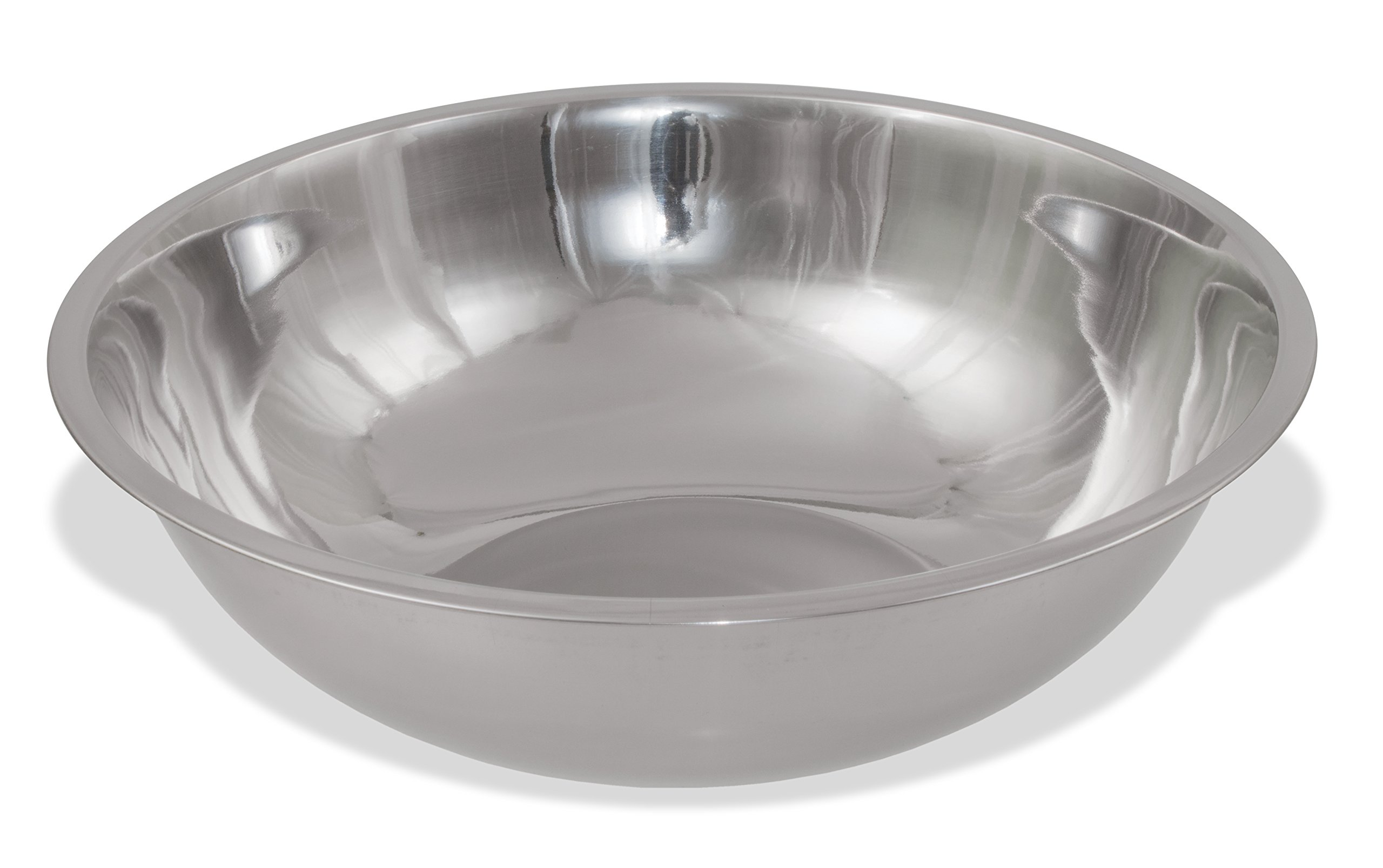 Crestware 20-Quart Stainless Steel Mixing Bowl