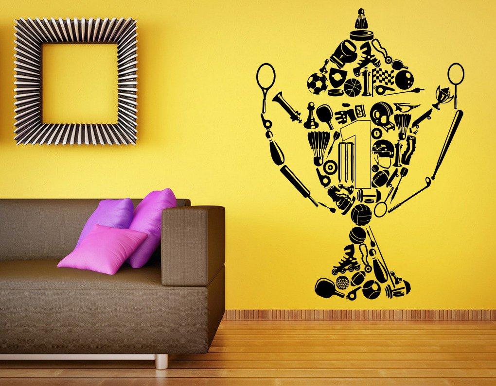 Amazon.com: Basketball Cup Wall Decal Vinyl Sticker NBA Sports Art ...