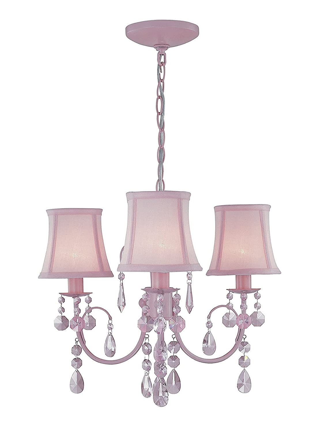 Lite source ls 19528pink sofie 3 light chandelier with crystals and lite source ls 19528pink sofie 3 light chandelier with crystals and mini lamp shades pink amazon arubaitofo Gallery