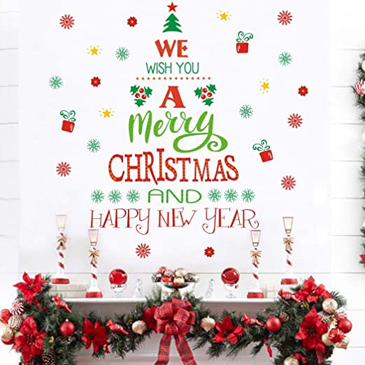 com merry christmas quotes wall decals decals happy