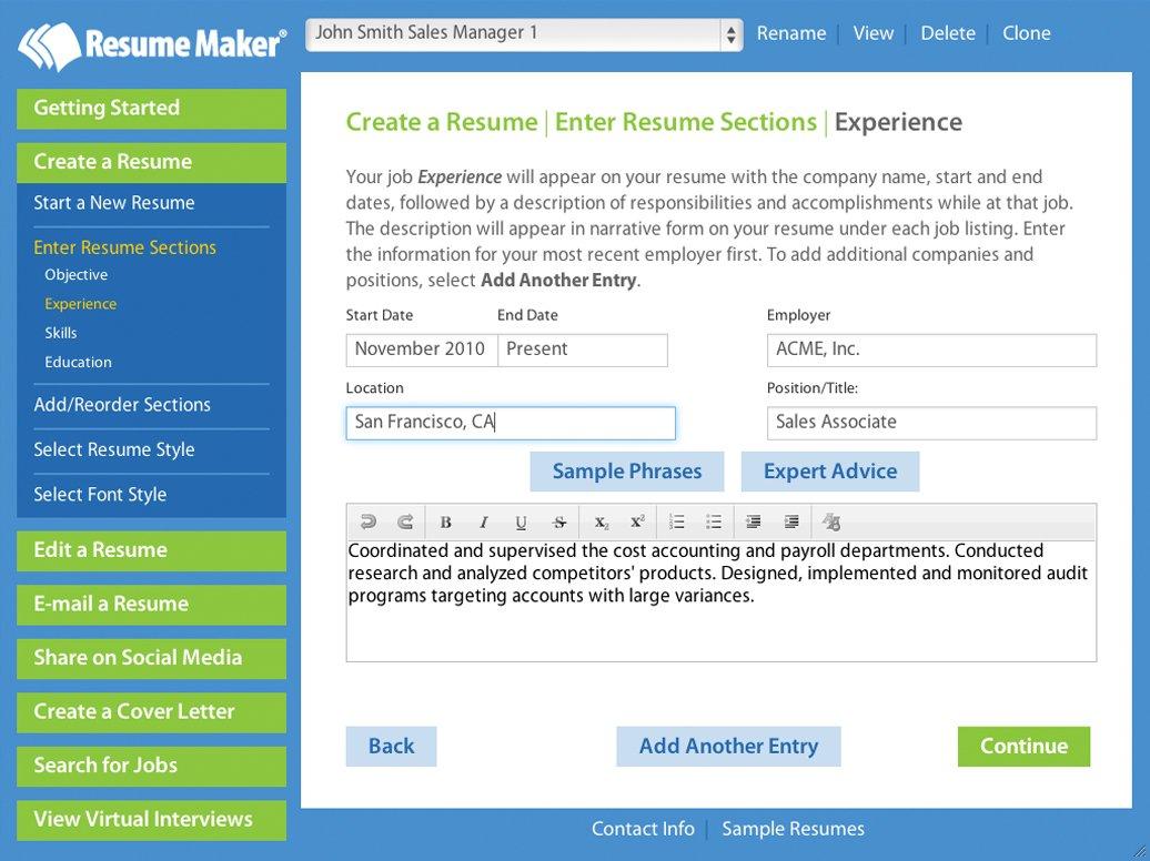 Amazon Com Resume Maker For Windows Download Software