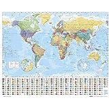 empireposter - Landkarten - World Map - Größe (cm), ca. 50x40 - Mini-Poster, NEU -