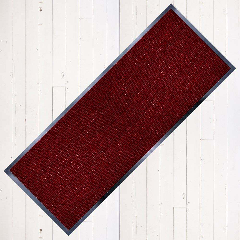 TrendMakers Dirt Stopper Carpet Mat 50cm x 80cm Beige//Black.With Non-Slip Back Home Office Kitchen Floor Mats