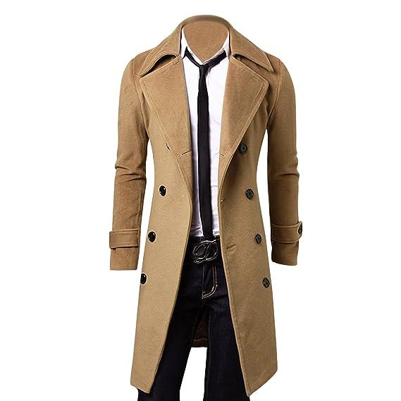 Semen Homme Manteau Veste Manches Longues Classique Parka Hiver Chaud  Outwear Trench-Coat Slim Casual  Amazon.fr  Vêtements et accessoires 7bda476a4f1a