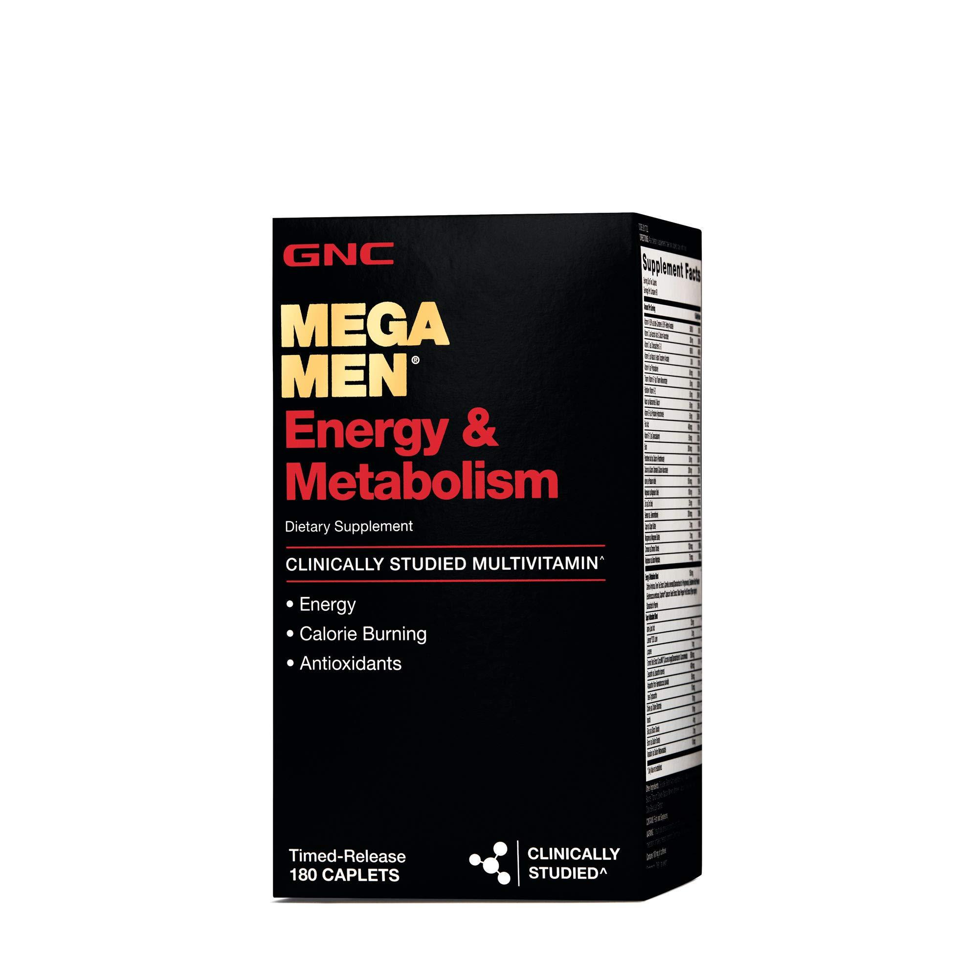 GNC Mega Men Energy Metabolism - 180 Caplets by GNC