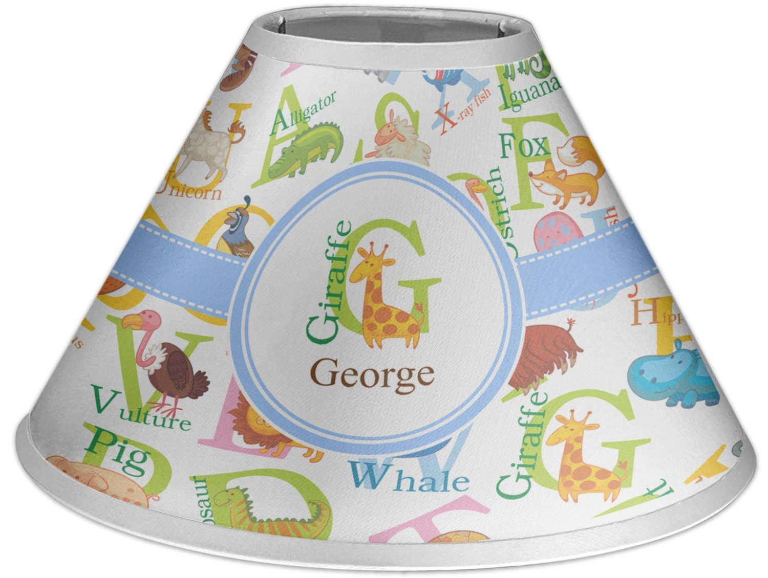 RNK Shops Animal Alphabet Coolie Lamp Shade (Personalized)