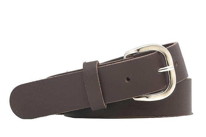 shenky - Cinturón de cuero - 3 cm de ancho - Para cinturas de 140 a 180 cm   Amazon.es  Ropa y accesorios efc1b5fc7af1