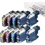 ブラザー用 LC113 互換 【 LC113-4PK 4色セット 2セット + LC113BK 2本】 LC113BK 4本 / LC113CMY 各2本 (全10本) エコスロバキアオリジナル