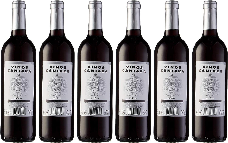 Cantara Vino Tinto Mesa - 6 Paquetes de 750 ml - Total: 4500 ml: Amazon.es: Alimentación y bebidas