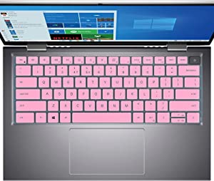 Keyboard Cover for Dell Inspiron 14 5410 7415, Dell Inspiron 13 5310, Dell Latitude 3420 Laptop Keyboard Cover Protector, Dell Inspiron 14 5410 7415 Accessories, Pink (NOT Fit Dell Latitude 14 5410)