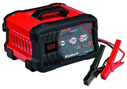 Einhell 1002261 Cargador Bateria CC-BCc 15 m con Control Micro-Processor Voltaje 6/12v, Negro, Rojo