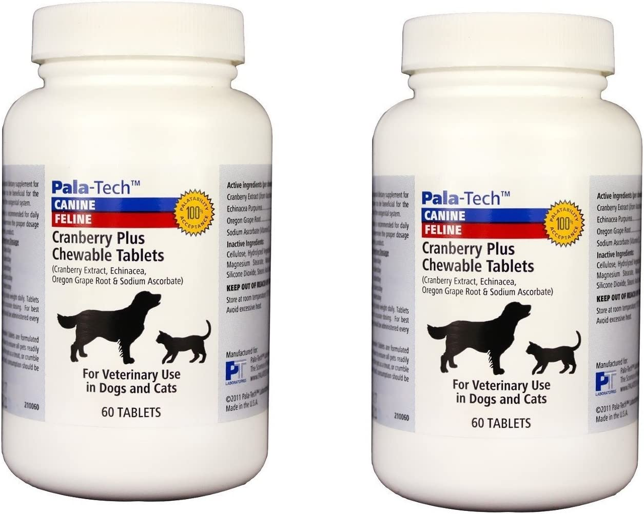 Pala Tech Cranberry Plus 60 Chewable Tablets for Dogs Cats