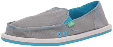 b4eaec5651e Sanuk Women s Donna Hemp Neon Loafer Flat Grey