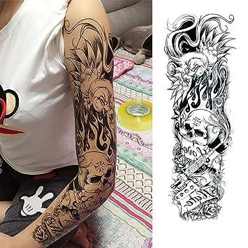 Handaxian 3pcsFull Flower Arm Tattoo Sticker pez Pavo Real Lotus ...