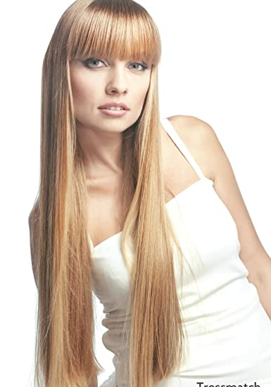 Amazon Com Tressmatch 20 22 Remy Human Hair Clip In Extensions