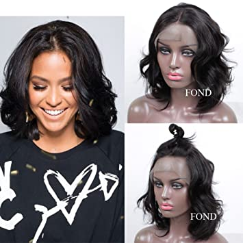 Amazon Com Fond Short Lace Front Wigs Human Hair Body Wave