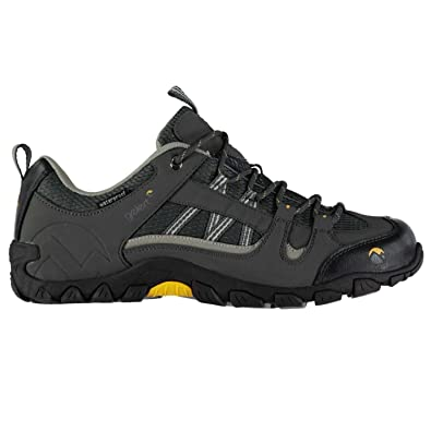 Mens Rocky Walking Shoes Waterproof Lace Up Padded Ankle Collar Tongue