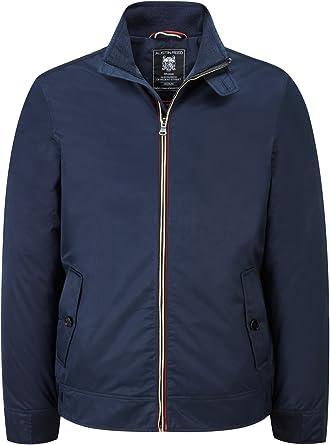 Austin Reed Abington Navy Blue Harrington Jackets Mens Medium Amazon Co Uk Clothing