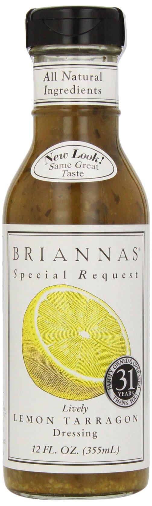 Briannas Lively Lemon Tarragon Dressing, 12 oz