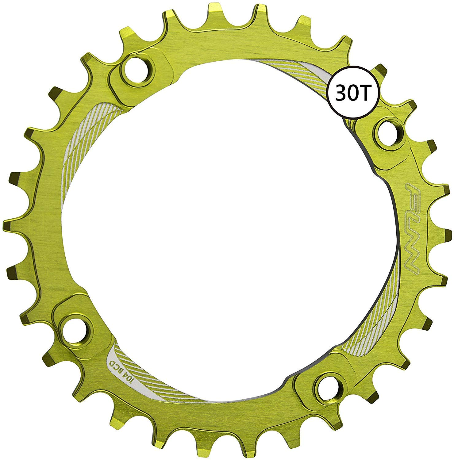 Funn Solo Narrow Wide Chain Ring BCD 104mm (36T Wasabi)