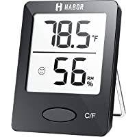 Habor Hygrometer Indoor Thermometer, Humidity Gauge Room Thermometer Indoor, Accurate Mini Wall Digital Hygrometer…