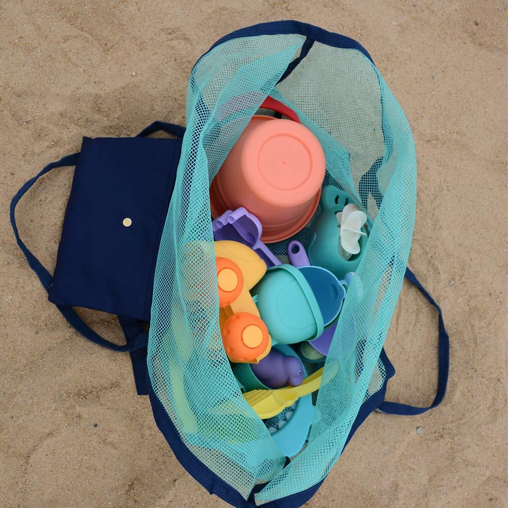 Amazon.com: Bolsa de malla de playa para juguetes de playa ...